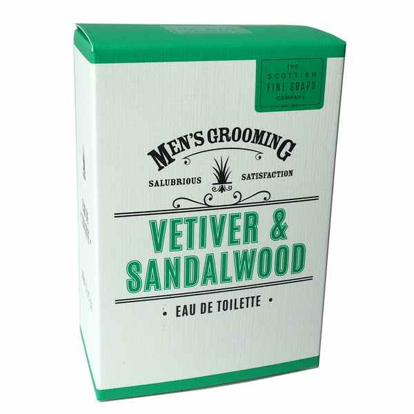 Scottish Fine Soaps Men's Grroming Vetiver & Sandalwood Eau De Toilette front
