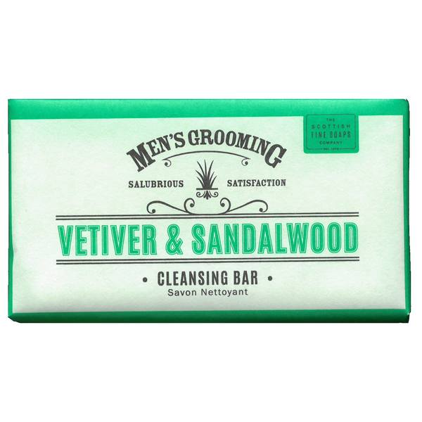 Scottish Fine Soaps Men's Grooming Vetiver & Sandalwood Soap front