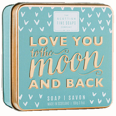 Scottish Fine Soaps Sweet Sayings Soap In A Tin - Love You To The Moon And Back