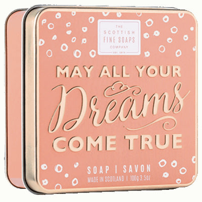 Scottish Fine Soaps Sweet Sayings Soap In A Tin - May All Your Dreams Come True