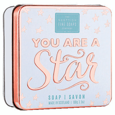 Scottish Fine Soaps Sweet Sayings Soap In A Tin - You Are A Star