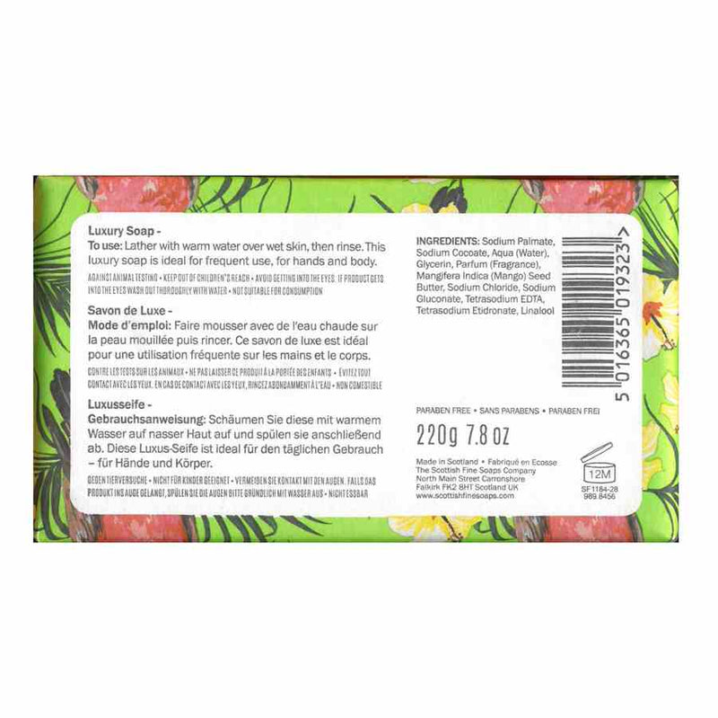 Scottish Fine Soaps Tropical Luxury Soap - Paradiso back