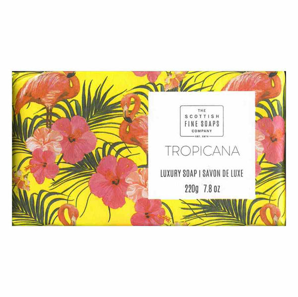 Scottish Fine Soaps Tropical Luxury Soap - Tropicana front