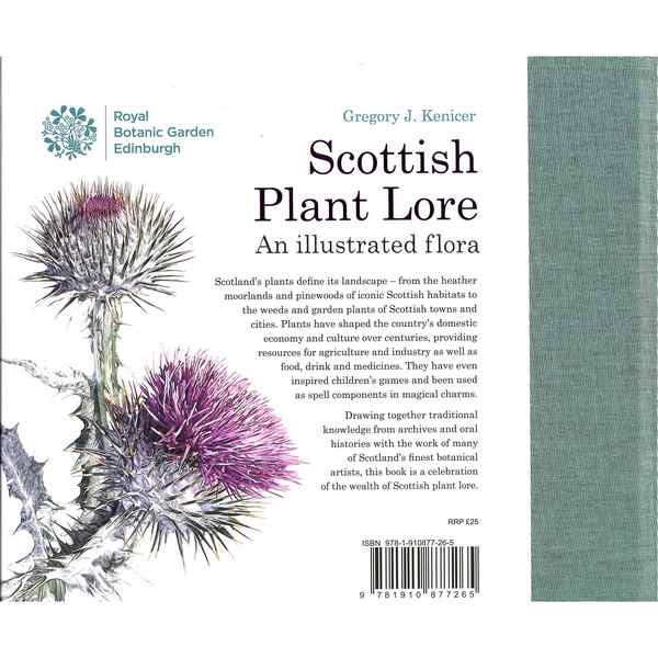 Royal Botanic Garden Edinburgh Scottish Plant Lore by Dr Gregory Kenicer back cover