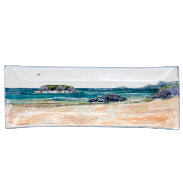 Highland Stoneware Seascape Plate Long Rectangle