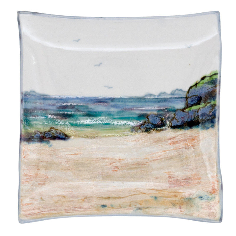 Highland Stoneware Seascape Plate Square Medium