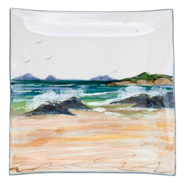 Highland Stoneware Seascape Plate Square XL