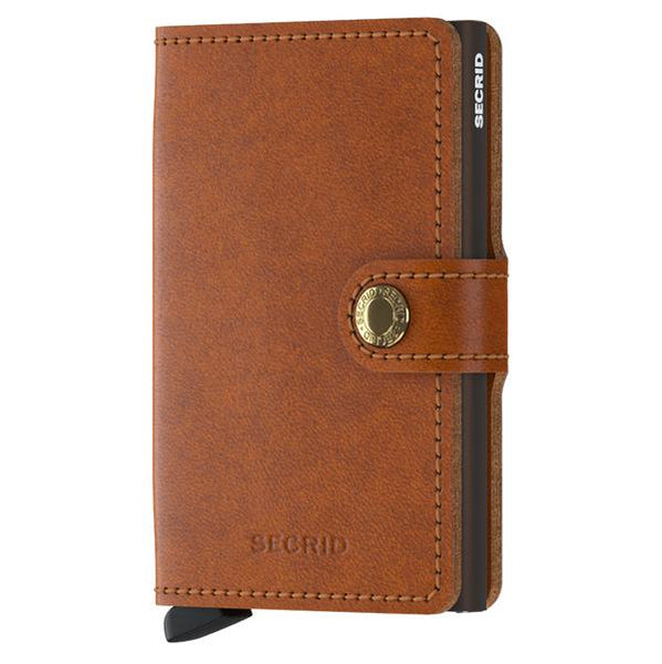Secrid RFID Mini Wallet Original Cognac Brown front