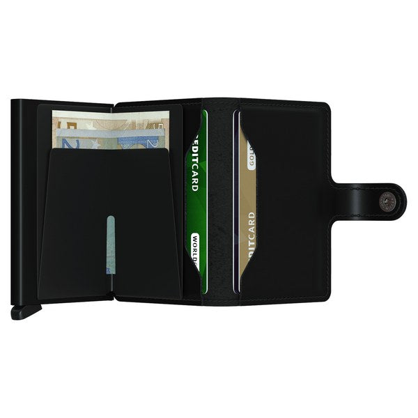 Secrid RFID Mini Wallet Original Matte Black open