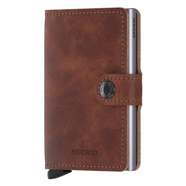 Secrid RFID Mini Wallet Original Vintage Brown front