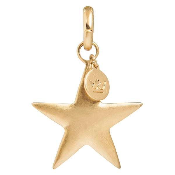 Charm Star Worn Gold