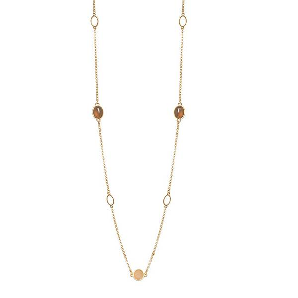 Sence Copenhagen Fashion Jewellery Curiosity Necklace Worn Gold P884 cropped
