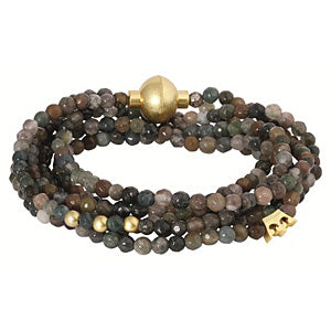 Sence Copenhagen Fashion Jewellery Signature Bracelet Indian Agate Worn Gold A276