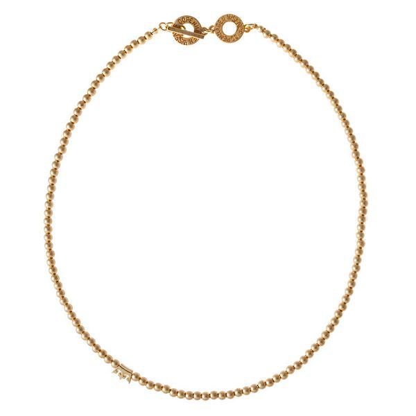Sence Copenhagen Freshwater Pearls Necklace worn gold Z176