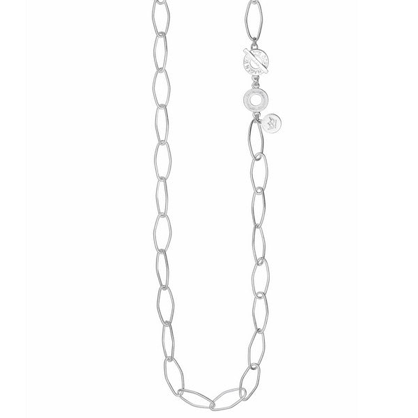 Sence Copenhagen Fashion Jewellery Signature Necklace Worn Silver T961