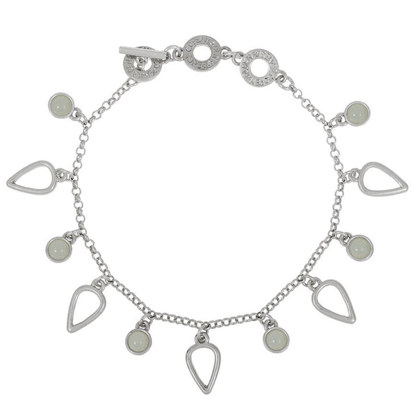 Sence Copenhagen Summer Rain Bracelet with Aquamarine in Worn Silver Z961