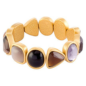 Sence Signature Multi-Stone Bracelet Worn Gold
