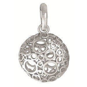 Signature charm bubbles worn silver