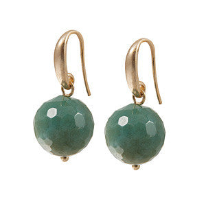 Sence Copenhagen - FR Earrings Indian Agate worn gold