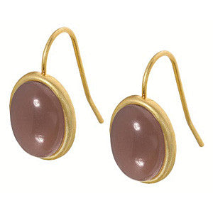 Sense Signature earrings glass worn gold