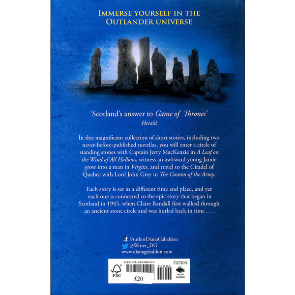 Diana Gabaldon - Outlander  - Seven Stones To Stand Or Fall blue back cover