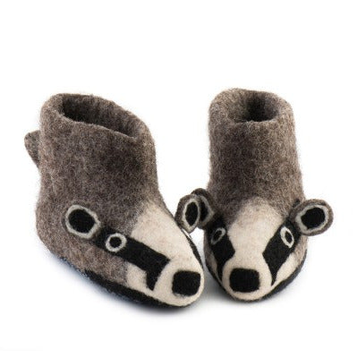 Sew Heart Felt Billie Badger Infant's Slippers front