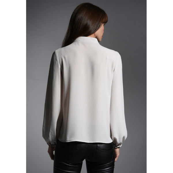 The Shirt Company Victoria Blouse in Bone back