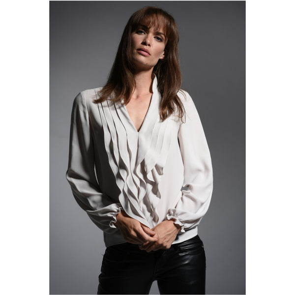 The Shirt Company Victoria Blouse in Bone