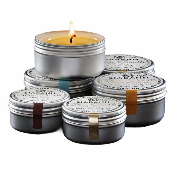Siabann - Ochil Skincare Skin Candle selection - lit