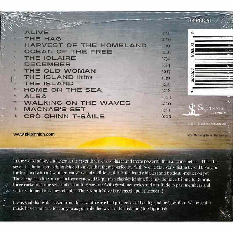 Skipinnish - The Seventh Wave CD back cover