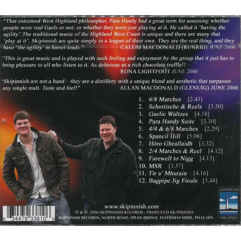 Skipinnish - The Sound Of The Summer CD back