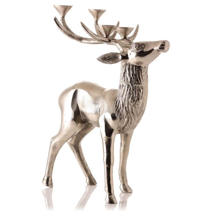 Stag Candelabra with 4 Candle Pointers