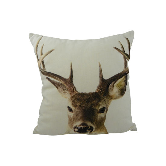 Deer stag canvas cushion small 33 x 33 cm