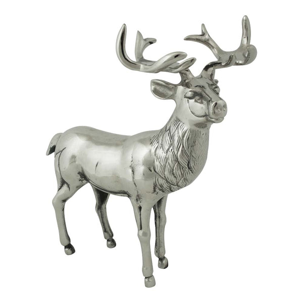 Standing Aluminium Deer Stag Large side
