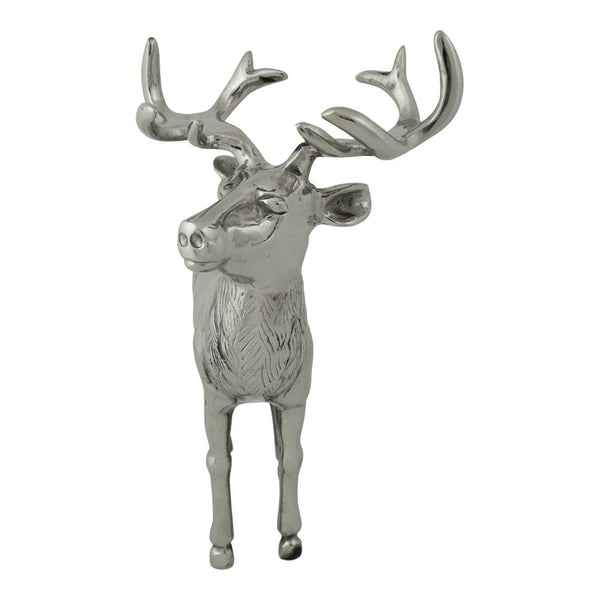 Standing Aluminium Deer Stag Large front