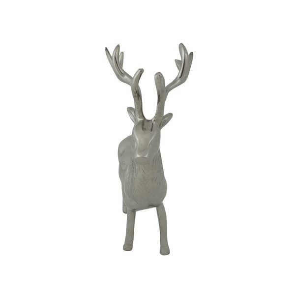 Standing Aluminium Deer Stag small front