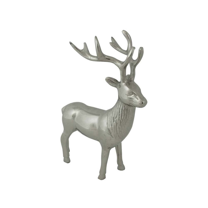 Standing Aluminium Deer Stag small side
