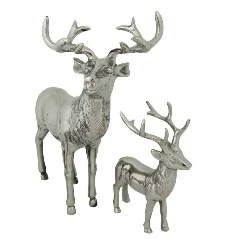 Standing Aluminium Deer Stag Large and Small
