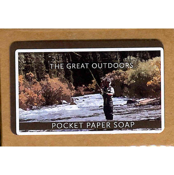 The Great Outdoors Pocket Paper Soap at The Old School Beauly