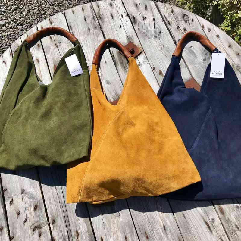 Suede Slouch Bag colour selection