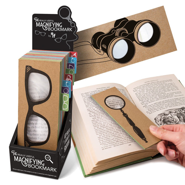The Really Useful Magnifying Bookmark and book