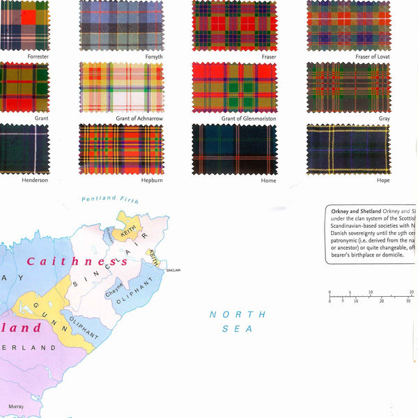 Tartans Map Of Scotland inside