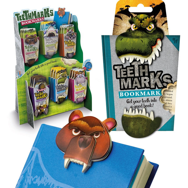 Teeth-marks Bookmark - with display stand