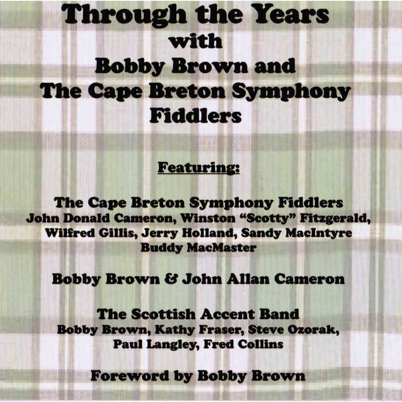 Through The Years With Bobby Brown And The Cape Breton Symphony Fiddlers CD front cover