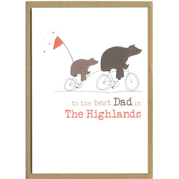 To The Best Dad In The Highlands Card