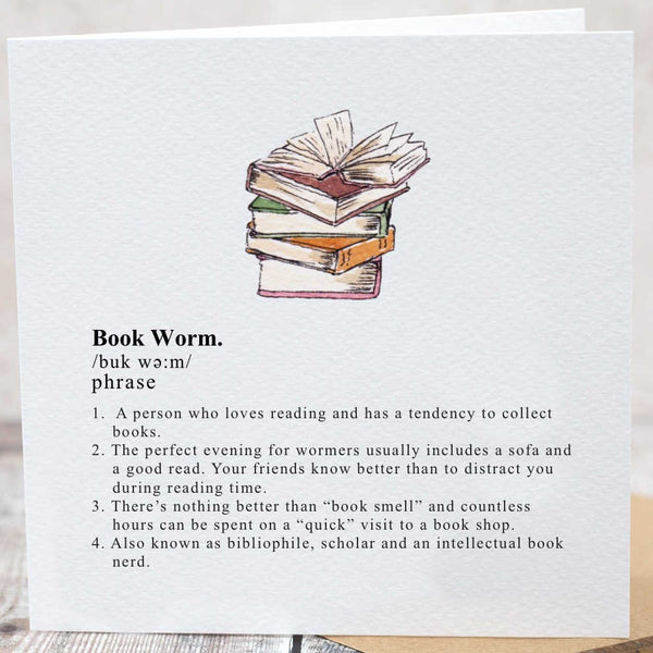 Toasted Crumpet Designs Book Worm Card CG28