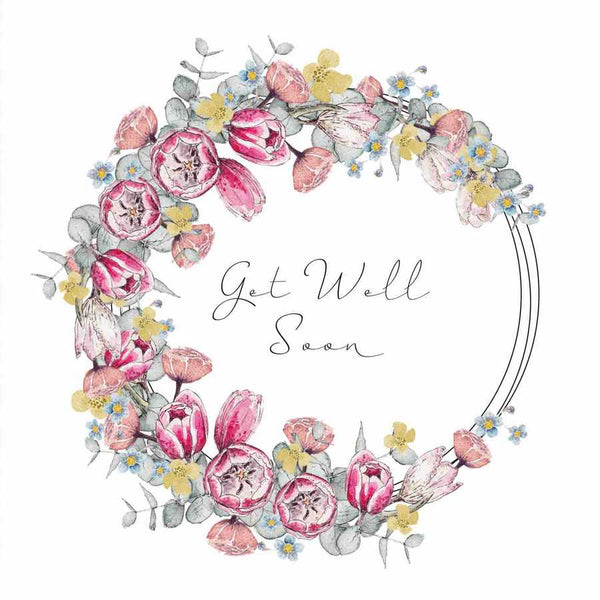Toasted Crumpet Designs Floral Get Well Soon Card FL19