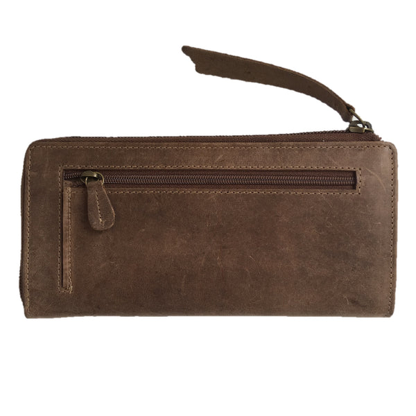 Tobacco Zipped Purse back