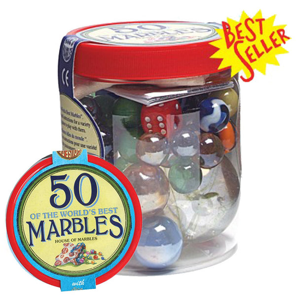Tub of 50 Marbles