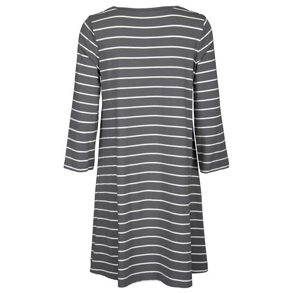 Two Danes Bryce Tunic Sage and off white stripes back